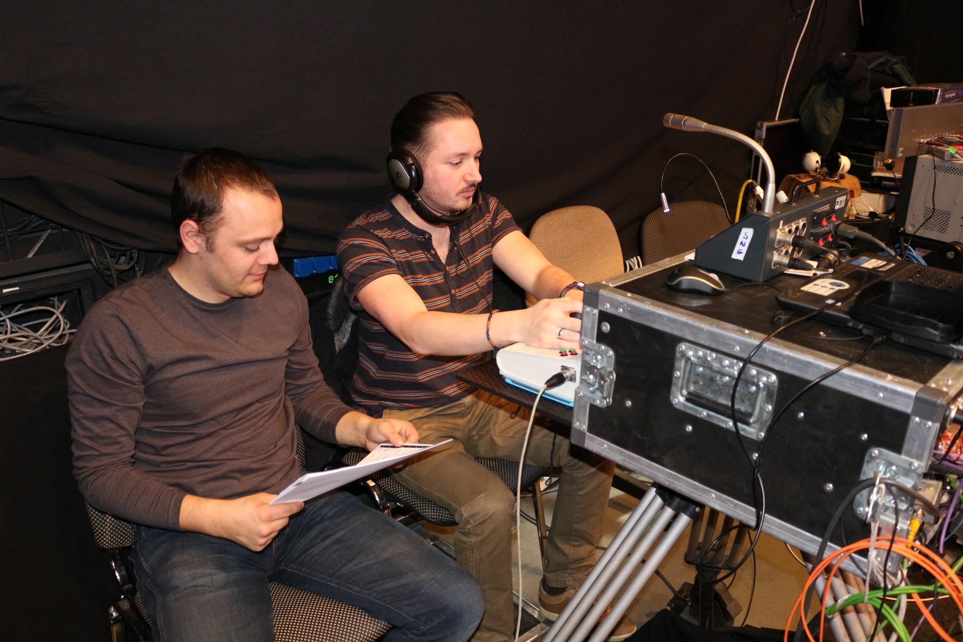 A GoCAM Team -, Tisztartó Szilárd operatőr, és Mórocz Ádám technikus.JPG