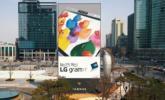 Óriás digitális LG hirdetőtábla a Gangnam negyedben